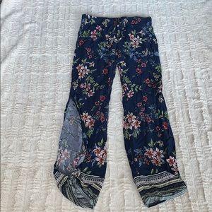 High waisted flowy pants